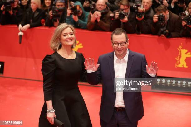 Danish diector Lars von Trier and his partner Bente Froge arrive for the screening of 'Nymphomaniac Volume I ' at the 64th annual Berlin Film...