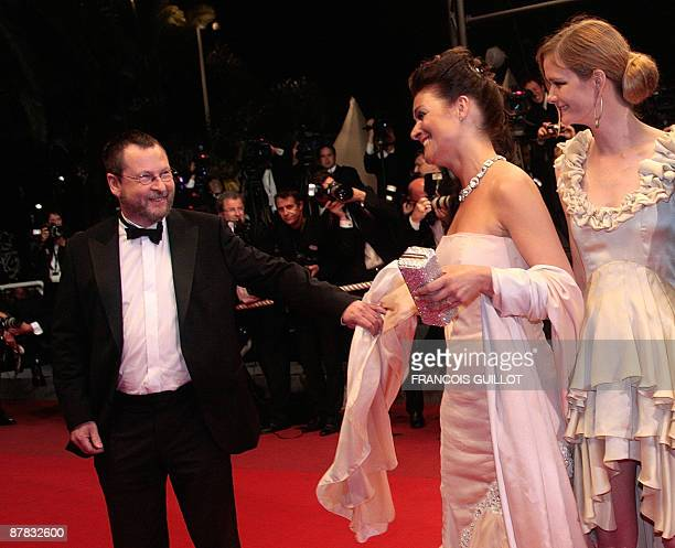 Danish director Lars Von Trier his wife Bente Froge and producer Meta Louise Foldager arrive for the screening of his movie Antichrist in competition...