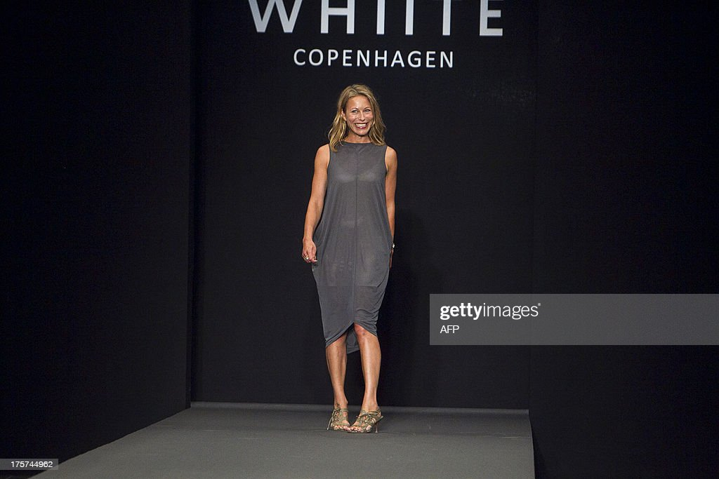 1bcbd19da0 Danish fashion house Whiite designer Frederikke Hviid greets the ...