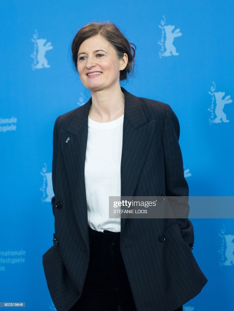 Danish film director Pernille Fischer Christensen poses during the photo call for the film 'Becoming Astrid' (Unga Astrid) presented in the 'Berlinale special gala' category during the 68th edition of the Berlinale film festival in Berlin on February 21, 2018. / AFP PHOTO / Stefanie Loos