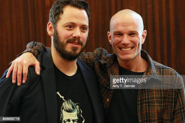 Danish Film Studies lecturer Andreas Halskov poses with actor James Marshall who played the character of James Hurley on the TV series Twin Peaks...