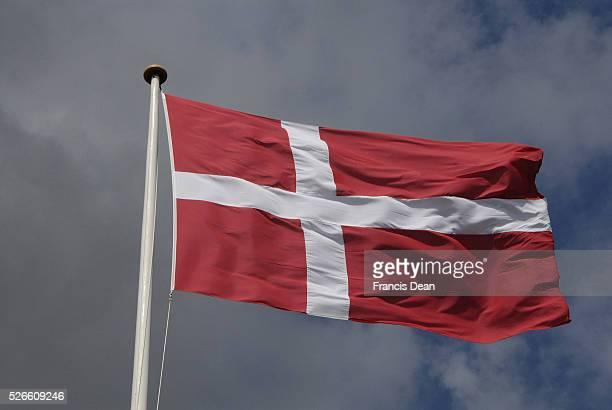 DENMARK Danish flag and danneborg 14 Auguest 2014
