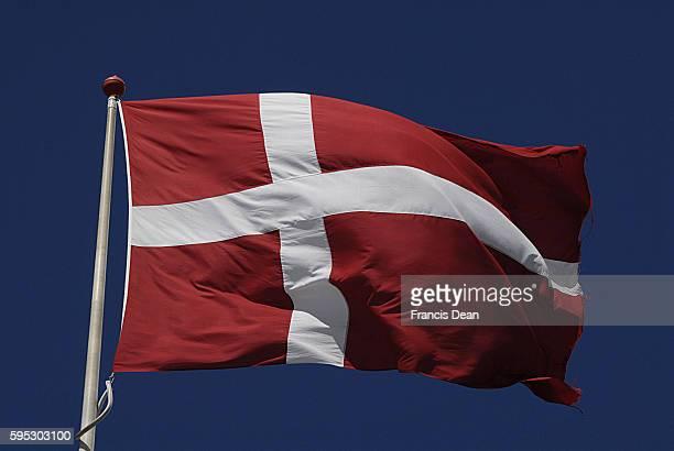 Danish flag or danneborg flys on summer 23 May 2013