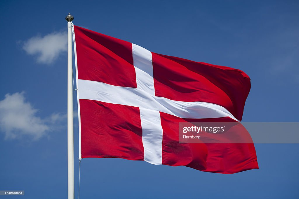 Danish flag : Stock Photo