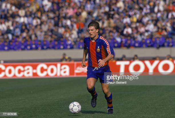 Danish footballer Michael Laudrup playing for the Spanish club FC Barcelona early 1990s