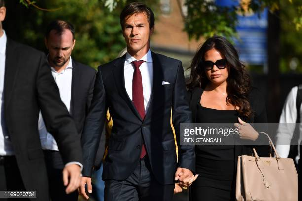 Danish golfer and Ryder cup winner Thorbjorn Olesen arrives at Isleworth crown court in west London to face charges of sexual assault on September...