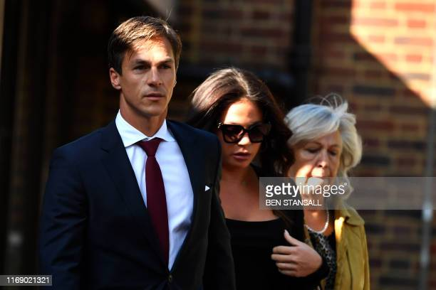 Danish golfer and Ryder cup winner Thorbjorn Olesen leaves Isleworth crown court in west London on September 18 where he faced charges of sexual...