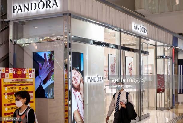 Danish jewelry manufacturer and retailer, Pandora store seen in Hong Kong.