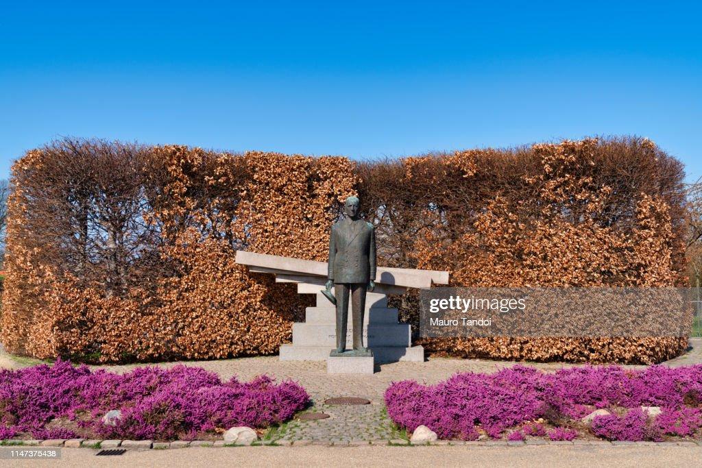 Danish King Frederik 9th Statue, Copenhagen, Zealand, Denmark, Europe : Foto stock