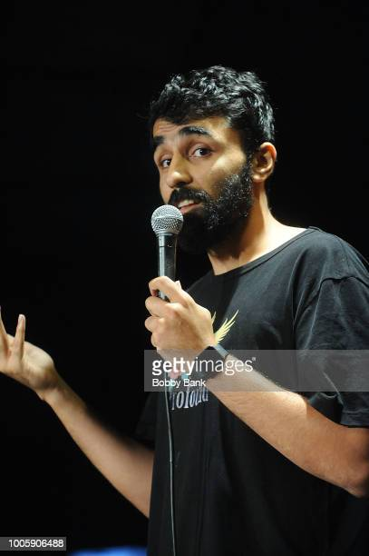 Danish Maqbool performs at The Stress Factory Comedy Club on July 26 2018 in New Brunswick New Jersey