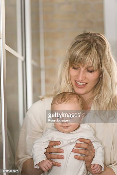 Danish mother, 29 years old, bonding with 2 month old son
