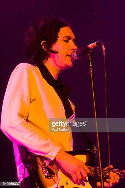 Danish musician Sune Rose Wagner of the group the Raveonettes as she performs onstage at the Allstate Arena Chicago Illinois November 29 2005
