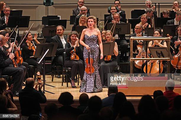 Danish National Symphony Orchestra performing at Carnegie Hall on Wednesday night February 11 2015This imageAnneSophie Mutter performing Sibelius's...