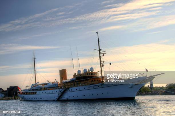 danish navy ship in the copenhagen harbor - danish culture stock pictures, royalty-free photos & images