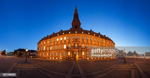 danish parliament panorama - christiansborg palace stock pictures, royalty-free photos & images