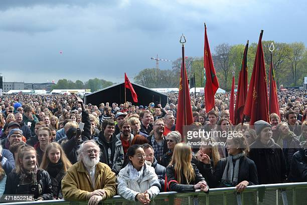 Danish people are seen during celebrations marking May Day International Worker's Day in Copenhagen Denmark on May 1 2015