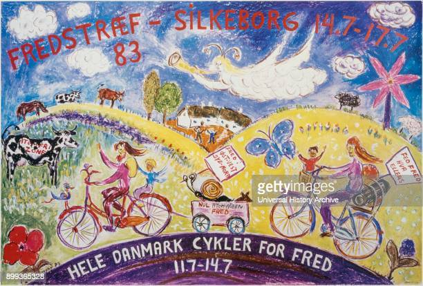 Danish poster advocating cycling 1977