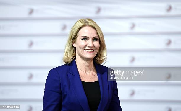 Danish Prime minister Helle ThorningSchmidt arrives at the House of the Blackhead for an informal dinner at the start of the fourth European Union...