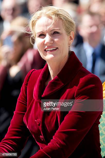 Danish Prime Minister Helle ThorningSchmidt at Christiansborg Palace on the occasion of The 100th Anniversary of The 1915 Danish Constitution on June...
