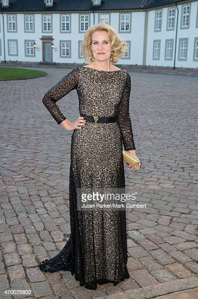 Danish Prime Minister Helle ThorningSchmidt attends a Gala Dinner at Fredensborg Palace on the evening of Queen Margrethe II of Denmark's 75th...