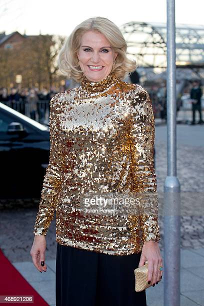 Danish Prime Minister Helle ThorningSchmidt attends a Gala Night to mark the forthcoming 75th Birthday of Queen Margrethe II of Denmark at Aarhus...