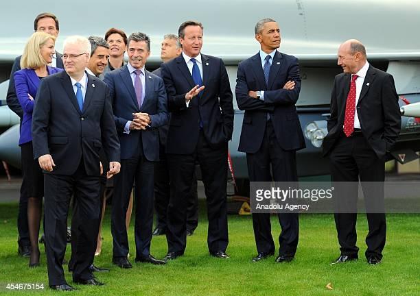 Danish Prime Minister Helle Thorning-Schmidt , US President Barack Obama , President of Romania Traian Basesku , British Prime Minister David Cameron...