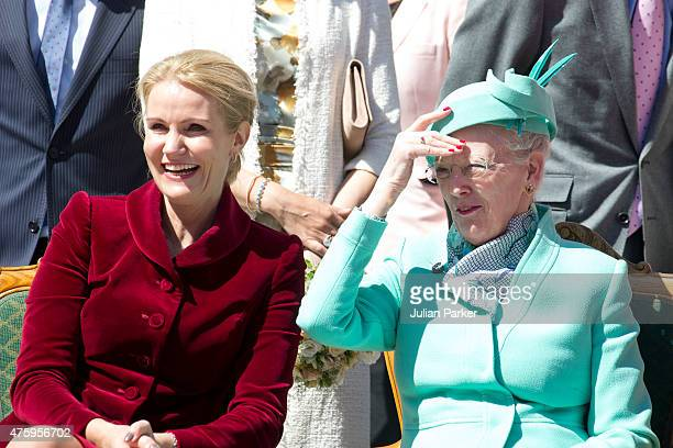 Danish Prime MinisterHelle ThorningSchmidt and Queen Margrethe of Denmark at Christiansborg Palace on the occasion of The 100th Anniversary of The...