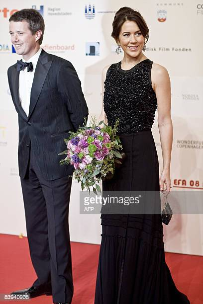 Danish Prince Frederik and his wife arrive princess Mary arrive for the European Film Awards awards ceremony in the Forum Hall in Copenhagen on...