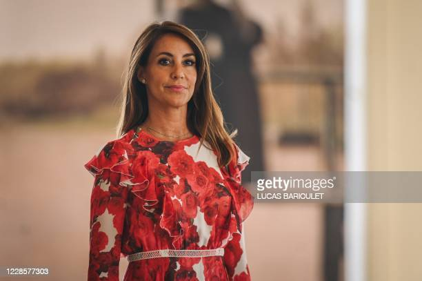 Danish princess Marie Cavallier arrives to visit the exhibition The golden age of Danish paintings at the Petit Palais in Paris on September 18 2020