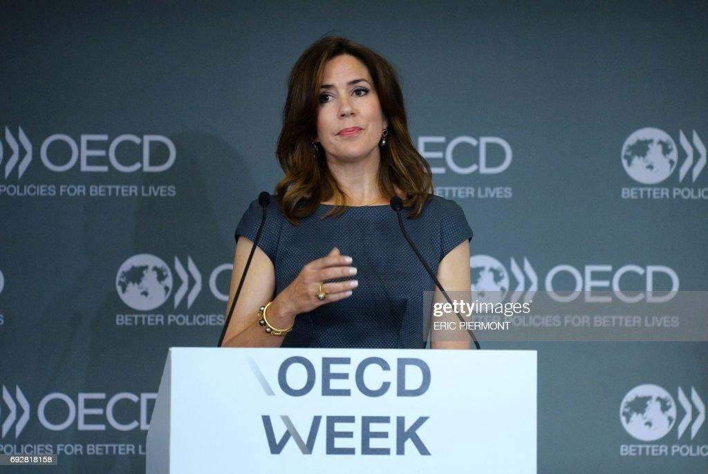 FRANCE-OECD-DENMARK-PRINCESS : News Photo