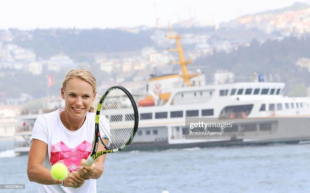 Caroline Wozniacki in Turkey : News Photo