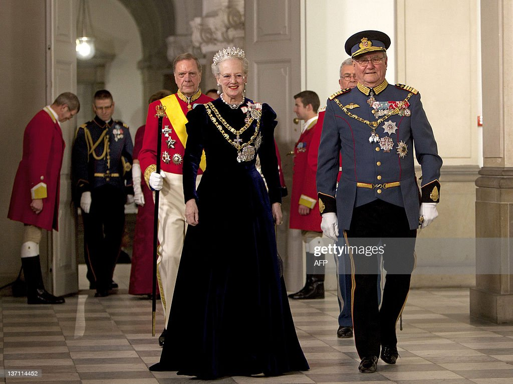 Danish Queen Margrethe (L) and Prince Co : News Photo