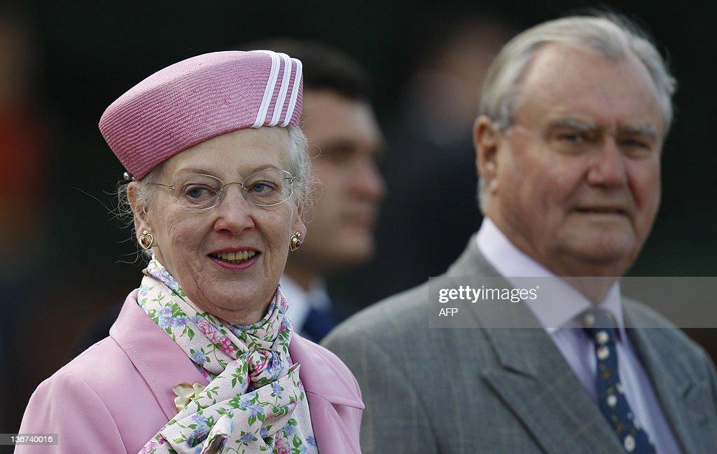 Danish Queen Margrethe II and Prince Hen : News Photo