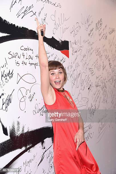 Danish recording artist Oh Land attends the AOL BUILD Speaker Series Oh Land at AOL Studios In New York on March 27 2015 in New York City