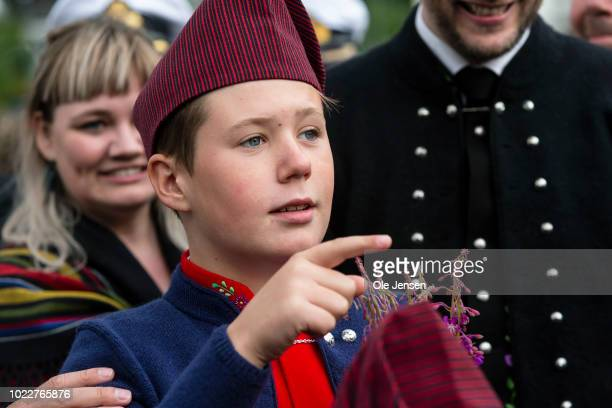 Danish rince Christian during the Royal familys visit to Klaksvig on the second day of their official visit to the Faroe Islands on August 24 2018 in...