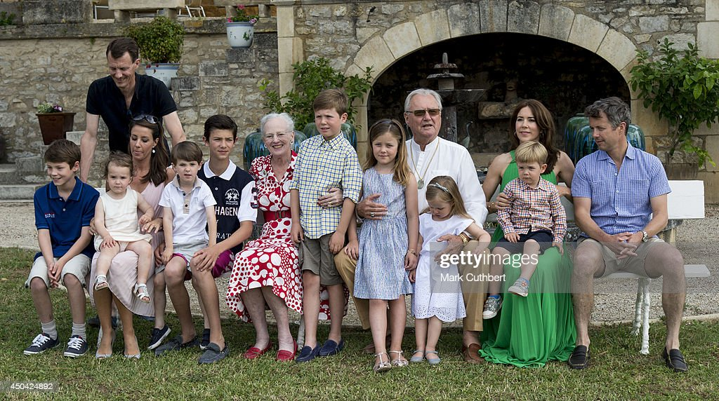 Danish Royal Family attending a Photocall at Chateau de Cayx on June 11, 2014 in Luzech, France.