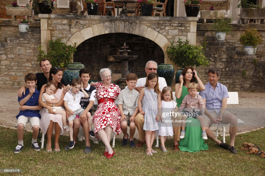 Danish Royal Family of Denmark attends a Photocall at Chateau de Cayx on June 11, 2014 in Luzech, France.