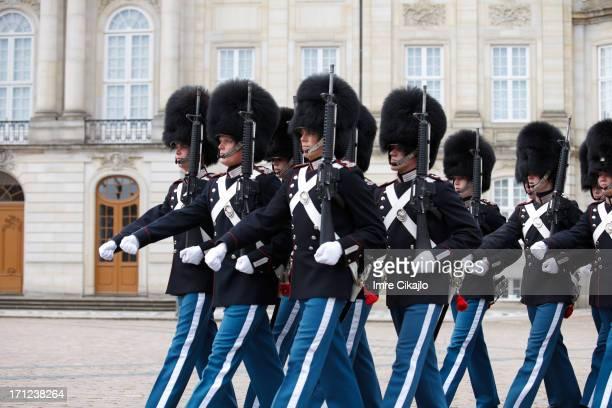 Danish Royal Guard marching