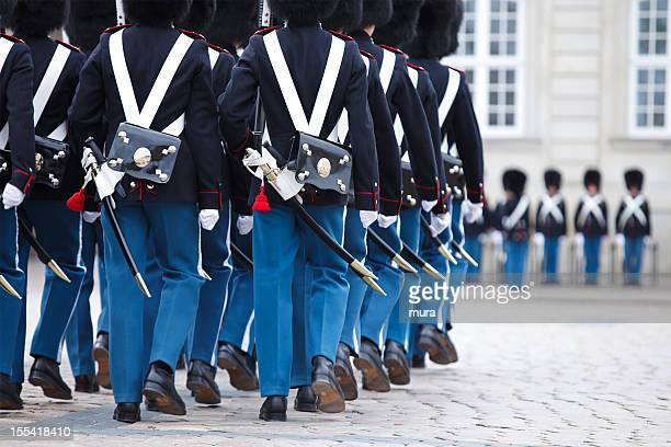 danish royal guard - honor guard stock pictures, royalty-free photos & images