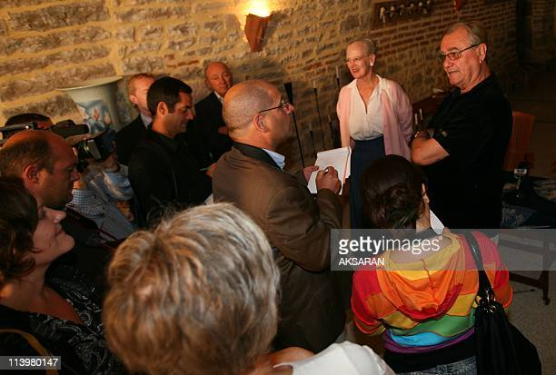 Danish royal vacations in south of France On August 07 2007Queen Margrethe of Denmark and Prince consort Henrik de Montpezat pose for photographers...