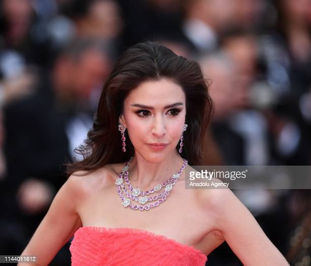 Danish Thai model Sririta Jensen arrives for the screening of the film 'Les Miserables' in competition at the 72nd annual Cannes Film Festival France...