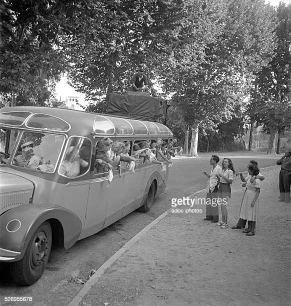Danish tourists on holiday on the Cote d'Azur In 1950