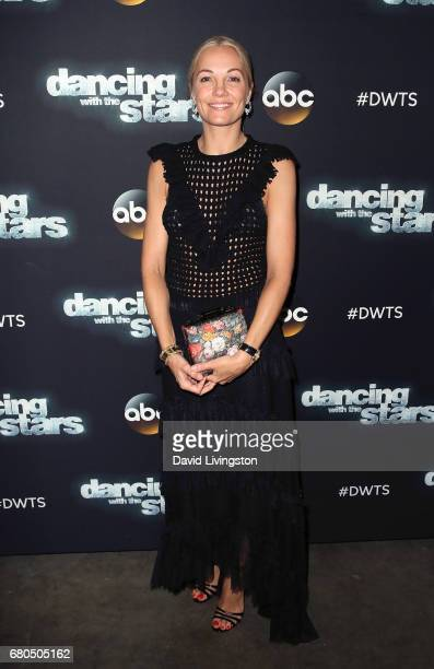 Danish TV personality Caroline Fleming attends Dancing with the Stars Season 24 at CBS Televison City on May 8 2017 in Los Angeles California