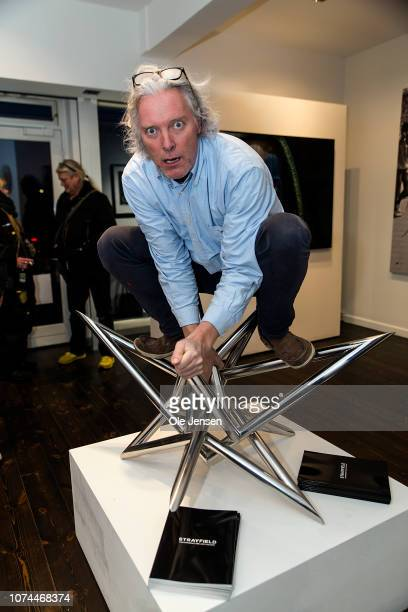DanishBritish artist Henrik von Hornsleth attends the opening of the exhibition 'Buy a Homeless' on December 20 2018 in Hellerup Denmark The artist...