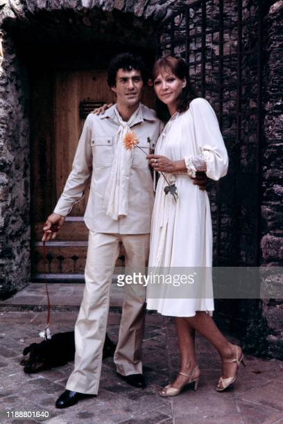 Danish-French actress Anna Karina and French actor Daniel Duval pose during their wedding in La Garde-Freinet, southeastern France, on July 1, 1978....
