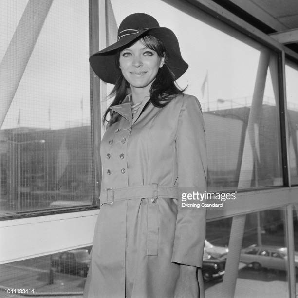 DanishFrench actress author and singer Anna Karina at Heathrow Airport London UK 13th September 1968