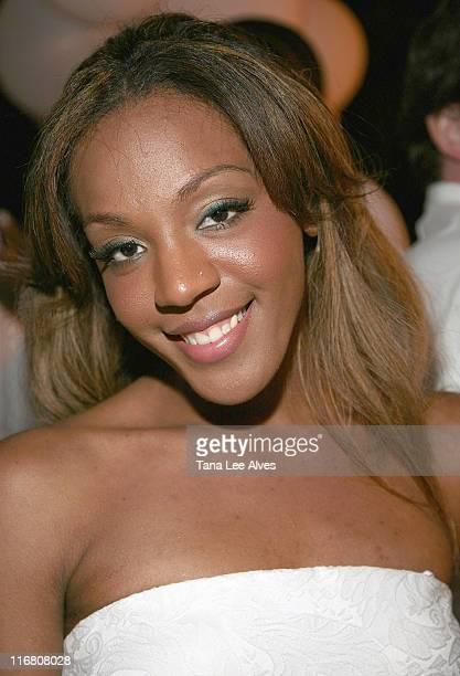 Danity Kane musician Dawn Richard visits the Real White Party After Party September 2 2007 in Southampton New York