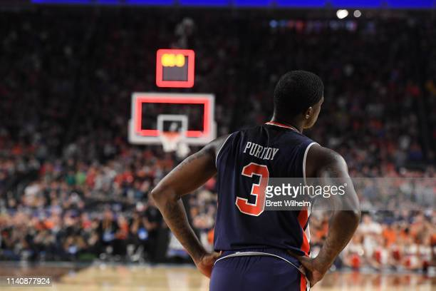 Danjel Purifoy of the Auburn Tigers reacts to losing the semifinal game in the NCAA Photos via Getty Images Men's Final Four at US Bank Stadium on...