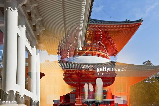 danjo garan temple complex atop sacred koyasan mountain in wakayama, japan - danjo garan stock-fotos und bilder