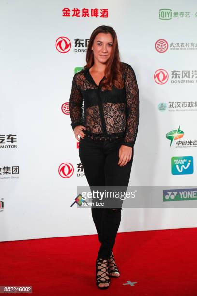 Danka Kovinic of Montenegro poses for a picture at a party of 2017 DONGFENG MOTOR WUHAN OPEN on September 23 2017 in Wuhan China
